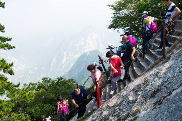 Image result for Huashan mountain  hiking trail