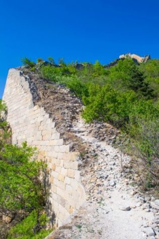 Beijing crumbling Great Wall