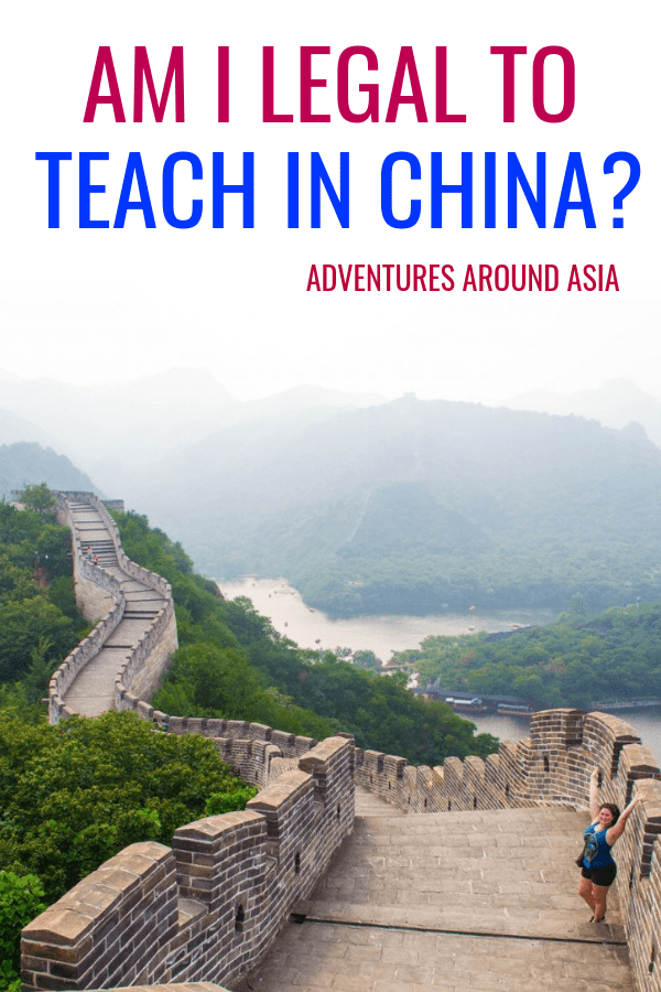 Are you legal to teach abroad in China? Here are the steps you need to take to work in China and teach abroad! #teachabroad #visa #travel #workabroad #China
