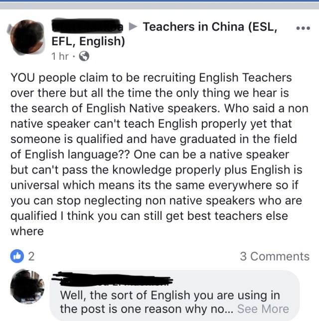 teach abroad non native speaker