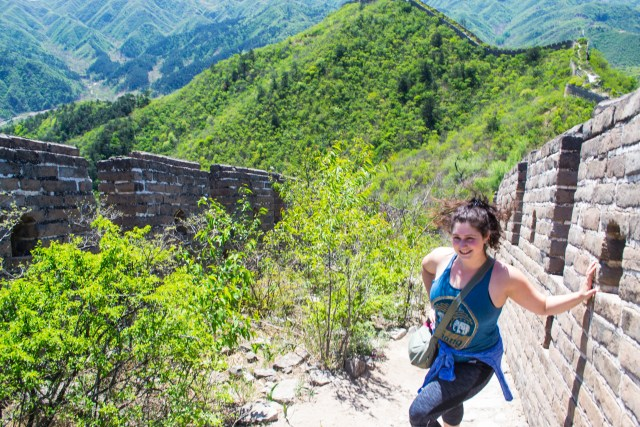 Great wall off the beaten path