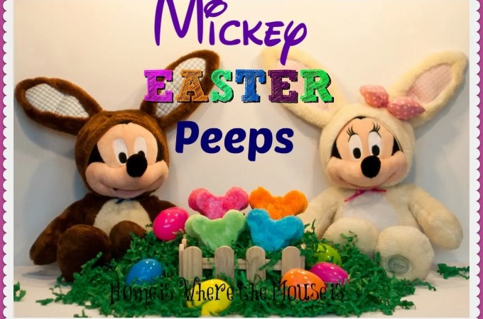 Homemade Mickey Easter Peeps
