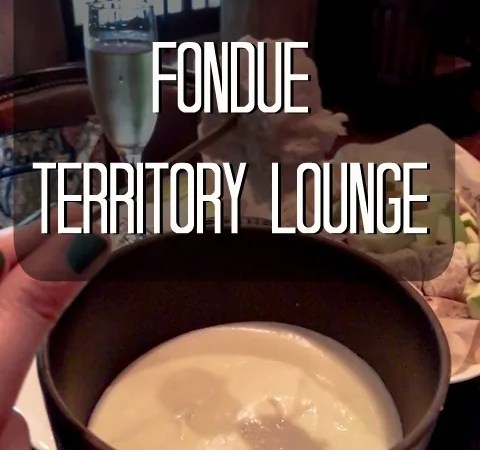 Oregon Pinot Gris Fondue | Territory Lounge at Disney's Wilderness Lodge