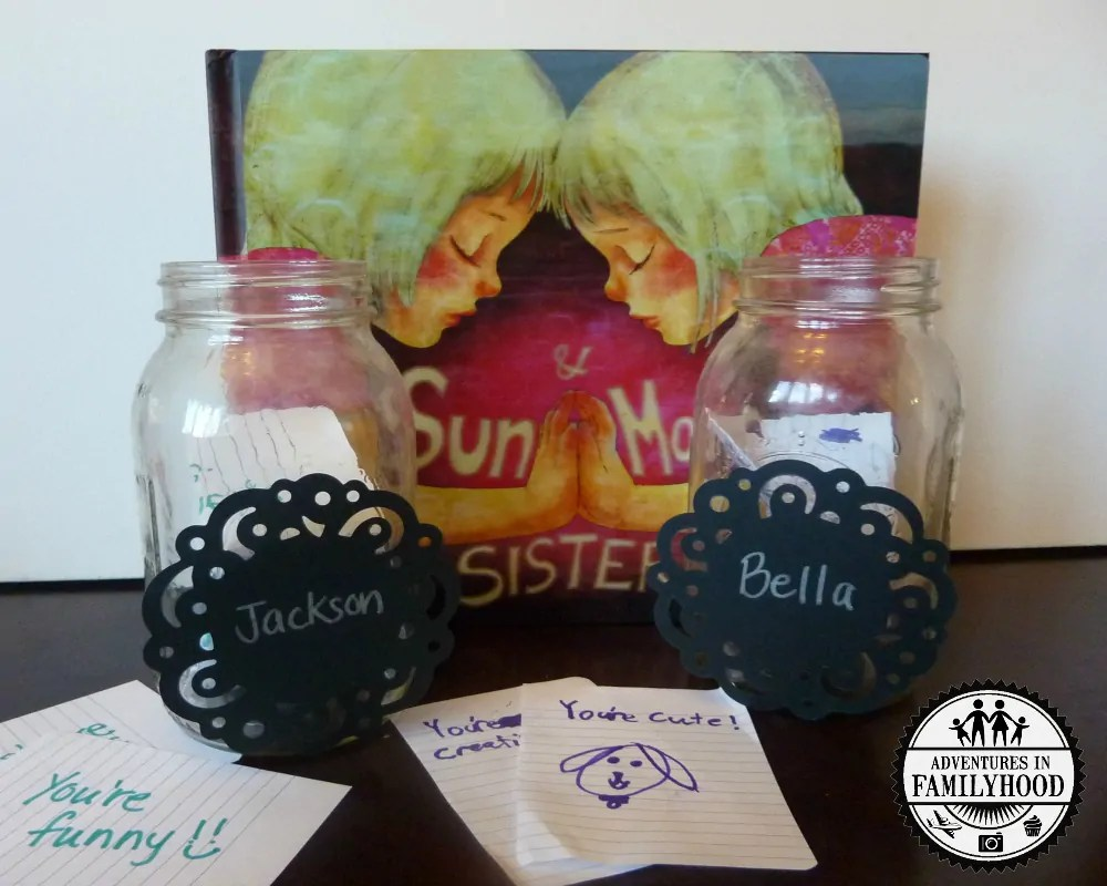Sun and Moon Sisters follow up activity | Sibling jar