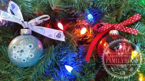 Disney Themed Glitter Ornaments
