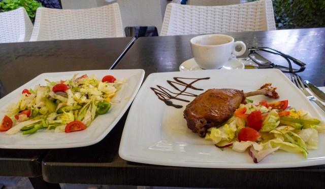 Duck Leg, Városliget Café, Budapest, Hungary