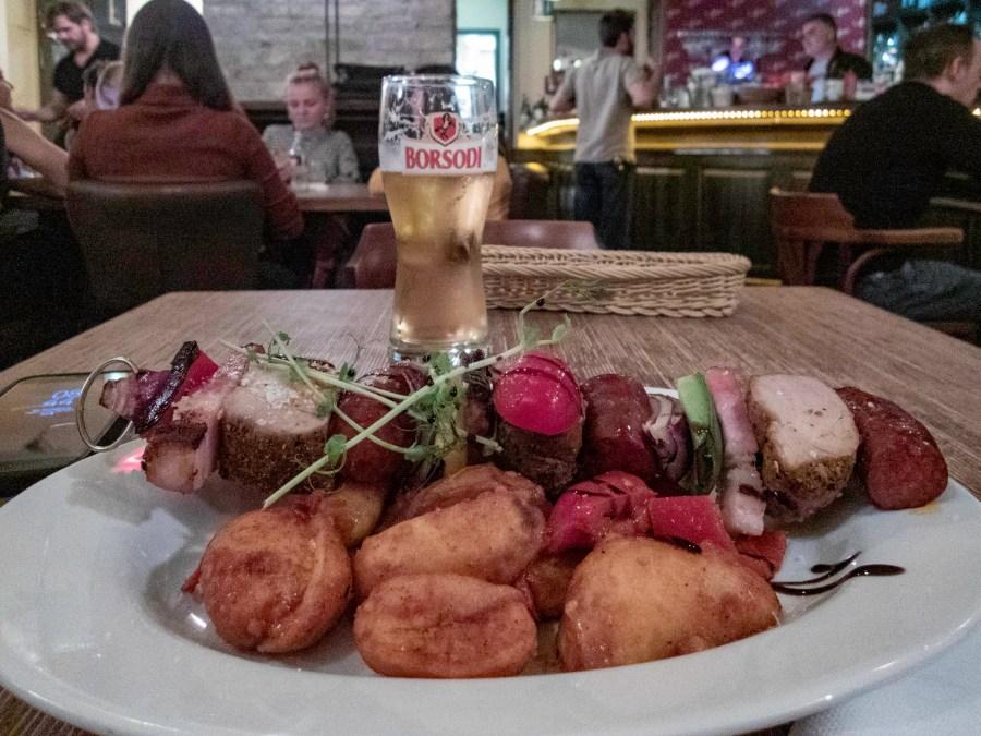 Meat on a Stick, Budapest, Hungary