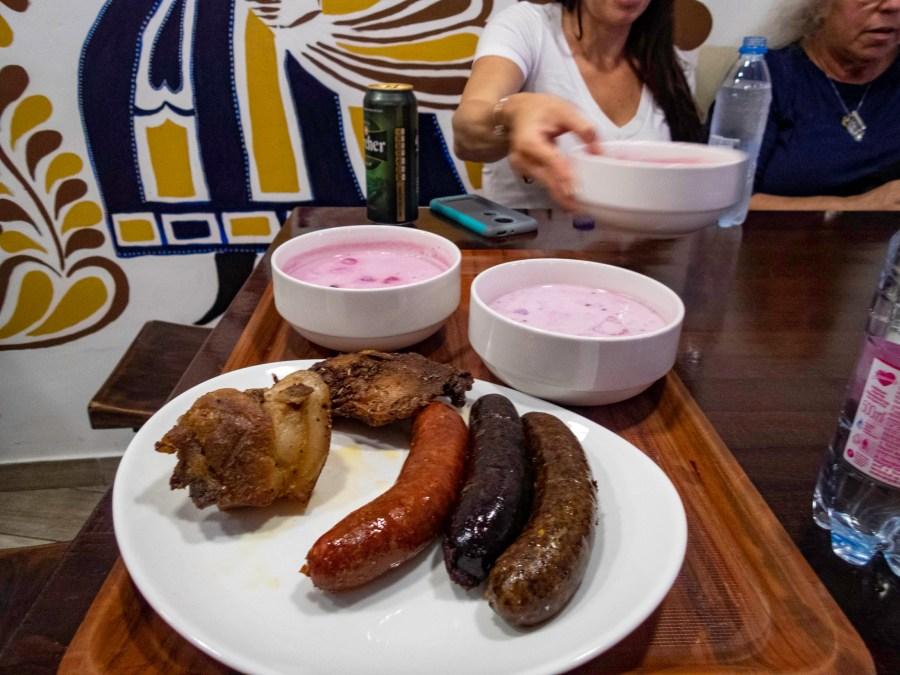Sausage & Pork Knuckle, Budapest, Hungary