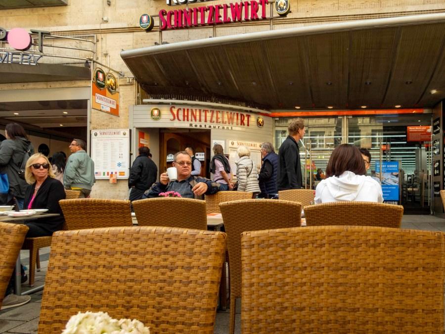 Schnitzelwirt in the Spatenhof Restaurant, Munich, Germany