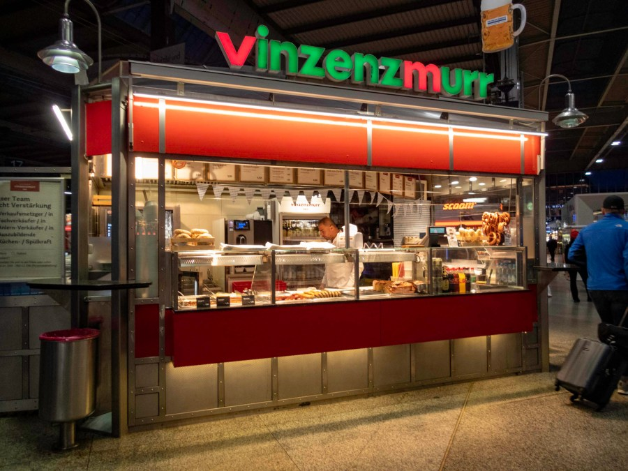 Sausages at 6 am, München Hauptbahnhof, Munich, Germany