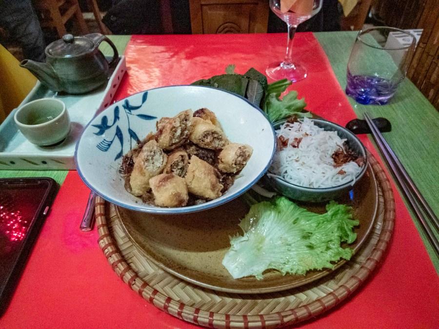 Vietnamese bun salad at Le Dan Bau Restaurant, Paris