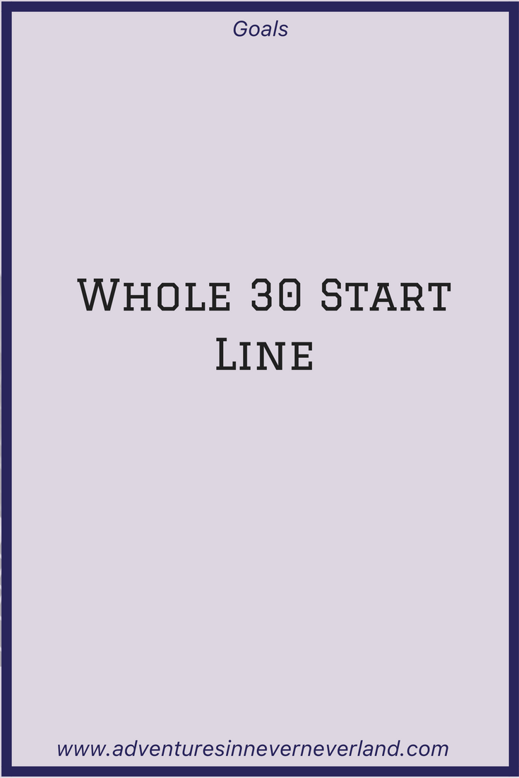 My starting point on the #whole30 challenge