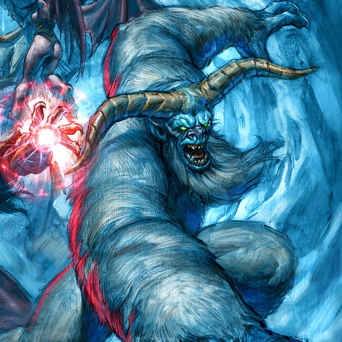 Surprising Hearthstone Art: Chillwind Yeti