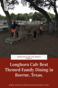 Train themed playground Longhorn Cafe Boerne Texas