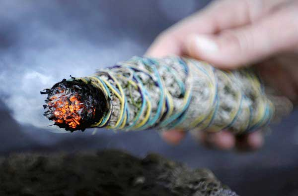 sage Smudging - banishing