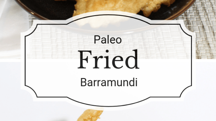 This Paleo fried barramundi combines healthy mild-flavored white fish with a crispy batter to give you a guilty pleasure meal that you can feel good about.