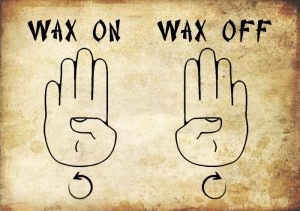 Image result for wax on wax off free image