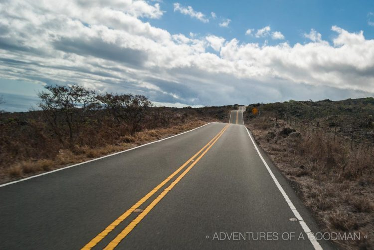 Driving next to Haleakala National Park in Maui, Hawaii