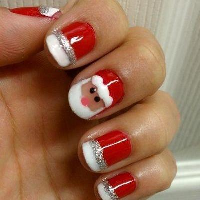 How to create Santa Nails