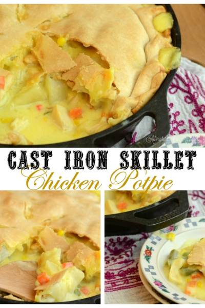 Cast Iron Skillet Chicken PotPie