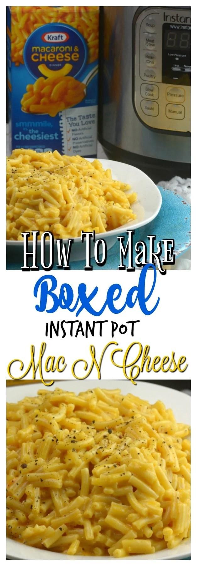 make instant pot boxed mac n cheese