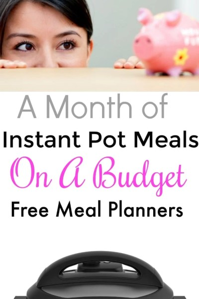 A Month of Family Friendly Instant Pot Meals with a Budget