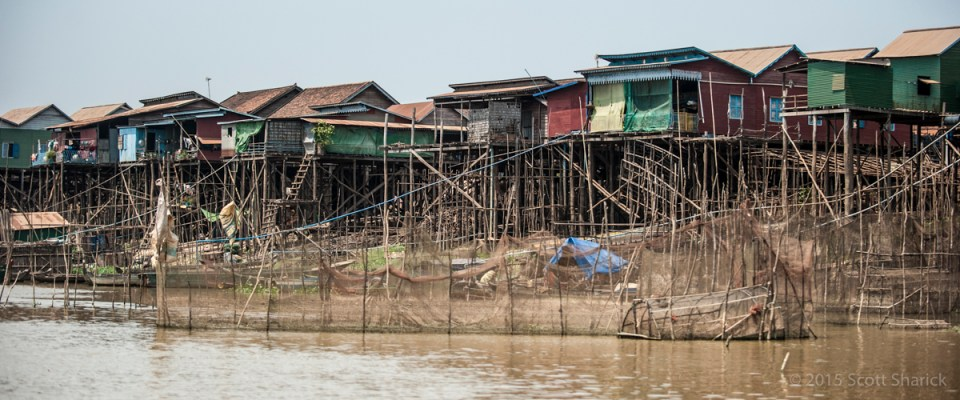 Kompong Khleang on the Tonle Sap in Cambodia