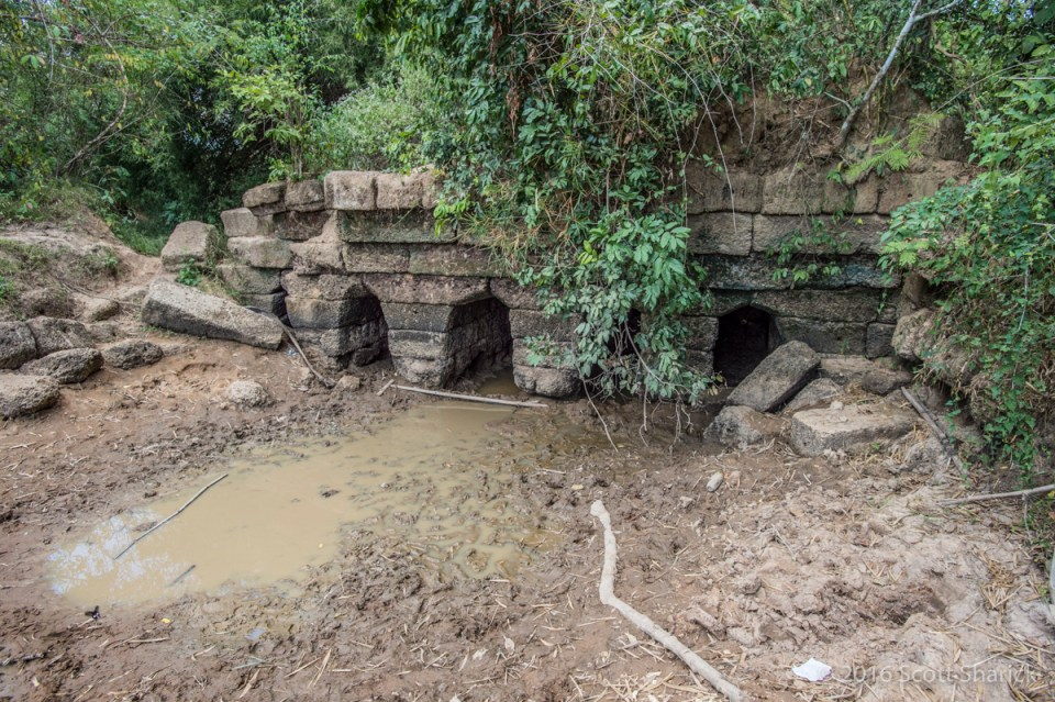 Remnants of an Angkorian Bridge on Route 66