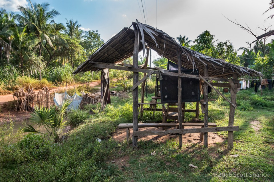 The best place to get a haircut in rural Cambodia.