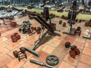 Monorom Fitness Center in Battambang is a place to go when you want to workout in Cambodia