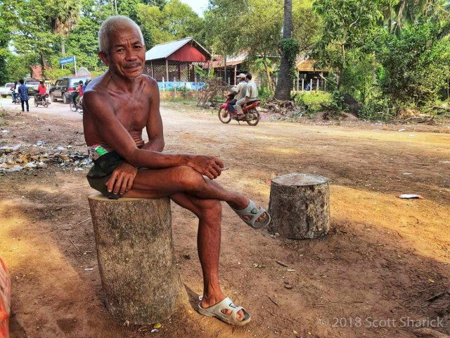 Local Khmer man quietly listens to my unhappiness with the recent changes.