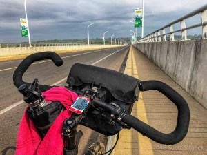 Crossing the Mekong River in Cambodia my bicycle turned 1,000 miles.