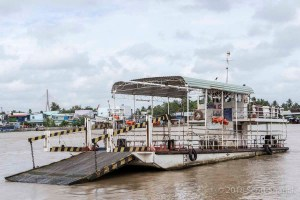 One of many Mekong River Ferries I had to use to get through the Mekong Delta.