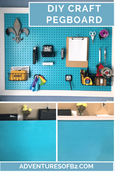DIY craft pegboard is a perfect way to organize all your items in your craft room while maximizing your space.