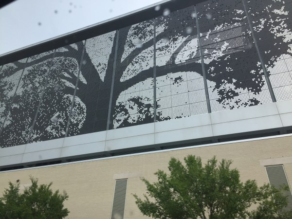 mural on the convention center in raleigh nc
