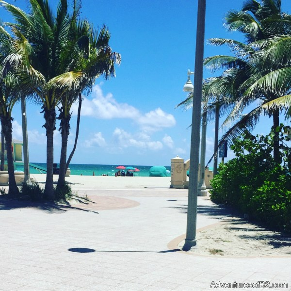 beach views from the boardwalk in hollywood, florida