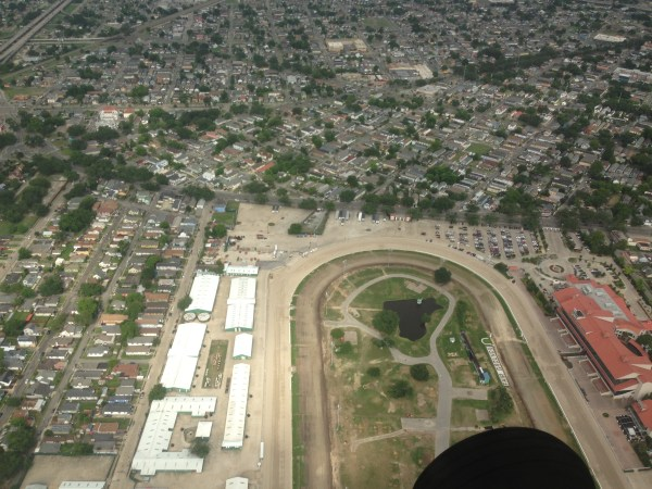 aerial view of the New Orleans fairgrounds