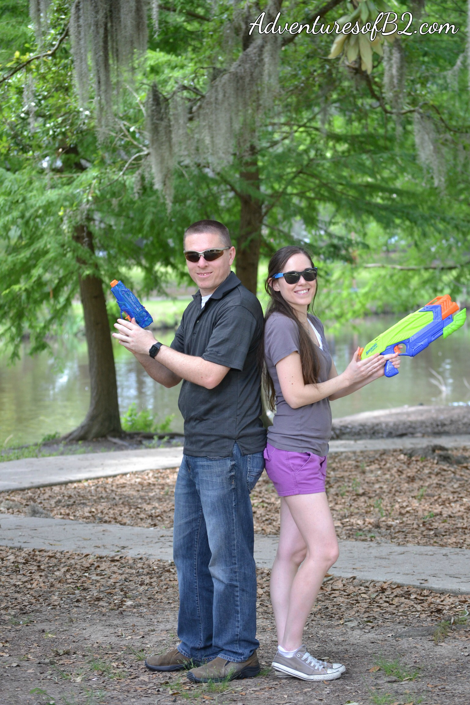 Water Gun Fight Photo Shoot