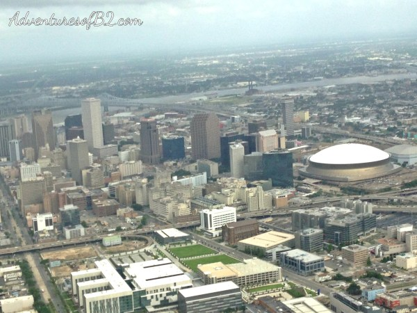 aerial view of New Orleans skyline