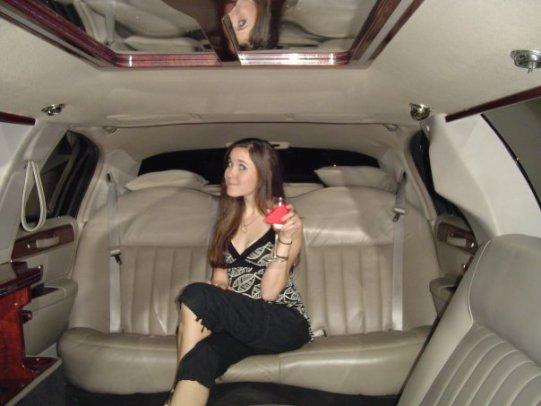girl in limo