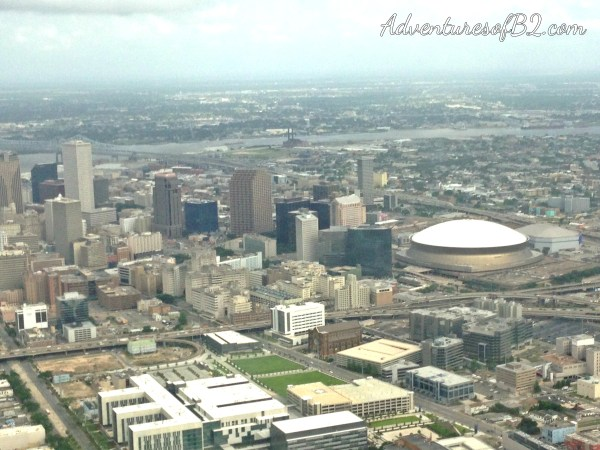 perfect aerial view of new orleans skyline during the new orleans aerial tour