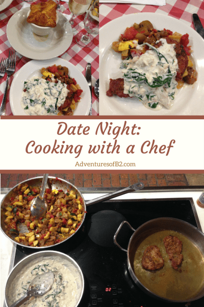 Give date night a little different experience by cooking with a chef #datenightideas #datenight #cookingwithachef #dateidea