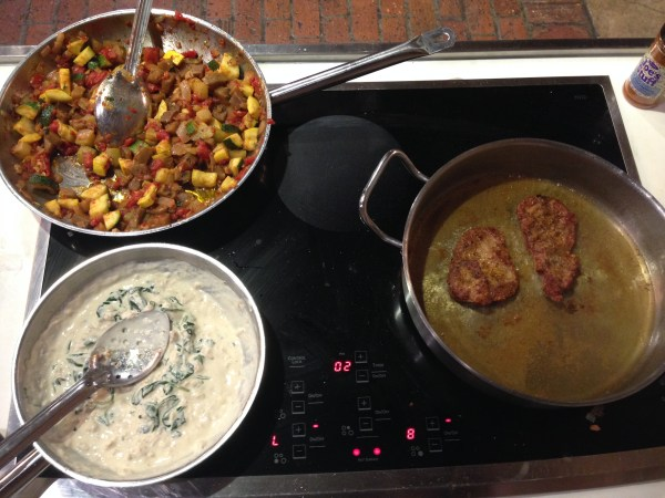 The food made during a session at the new orleans school of cooking. Learn to make a new orleans style meal while cooking with a chef. A perfect date night idea!