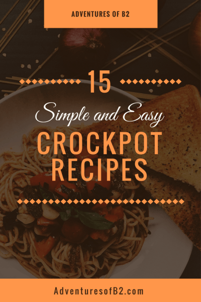 15 simple and easy crock pot recipes are perfect for busy week nights. With simple ingredients and instructions, it makes cooking a healthy dinner a breeze!