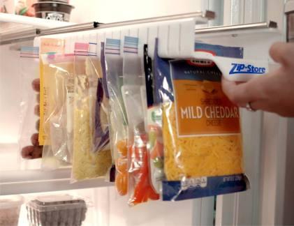 storage for ziploc bags