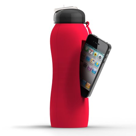 water bottle that holds phone