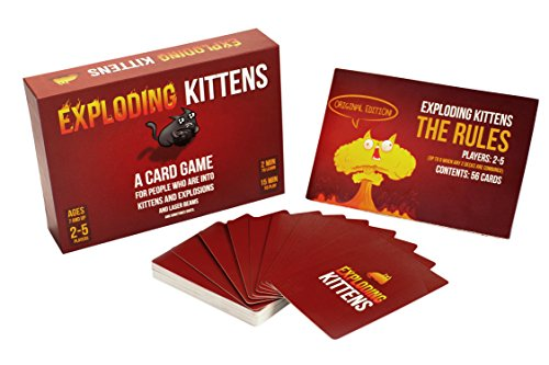 exploding kittens is not what you think it is. It's a fun game for kids 7 and up and provides entertainment for hours. For more great board game ideas, visit adventuresofb2.com