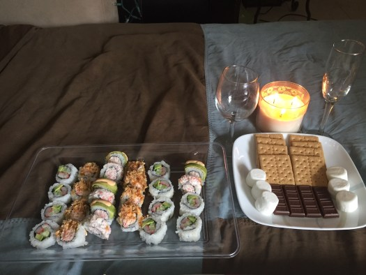 sushi and smores