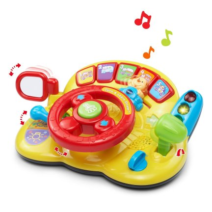 Let your kids learning start early with the turn and learn driver toy. This toy teaches them all about driving with music, numbers, lights and sounds. For more amazing christmas gifts for babies, visit adventuresofb2.com