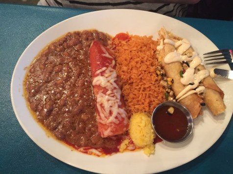 One of the tasty dinner plate at Chevy's mexican restaurant in portland oregon. A delicious restaurant for your mexican food cravings.